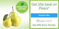 SavingStar Healthy Offer of the Week ~ .25 off Loose Pears