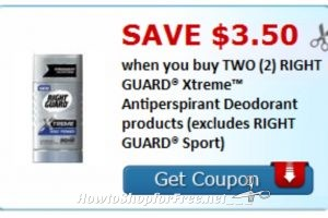 Hot! Right Guard $3.50/2 Coupon Print Print Print!!