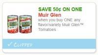 $0.50 off ONE Muir Glen Tomatoes ~ Hot Doubler, ICYMI!