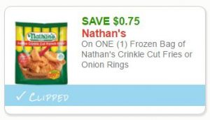 photo regarding Nathans Printable Coupons named Fresh Printable Coupon** $0.75 off a person Nathans Fries or Onion