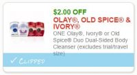 **NEW Printable Coupon**$2.00 off one OLAY, OLD SPICE and Ivory