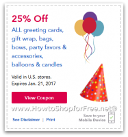 "25% off Party Goodies @ Toys""R""Us ~ Valid thru 1/21!"