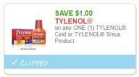 **NEW Printable Coupon**$1.00 off one Tylenol UR Product