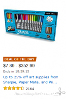 Up to 25% off Art Supplies from TOP Brands—Deal of the Day