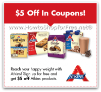 $5 Atkins IP Coupons + FREE Quick Start Kit! *New!*