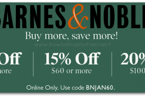 Buy More, Save More at Barnes & Noble! (Online Only)