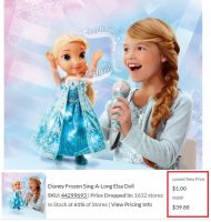 Sing-A-Long Elsa Doll 97% off at Walmart?!! $1.00 on Clearance!