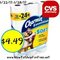 Hot Deal Charmin Essentials only $4.49 at CVS (1/22/17-1/28/17)