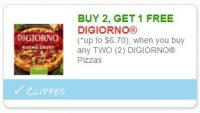 **NEW Printable Coupon**Buy any 2 DIGIORNO, get 1 FREE!!