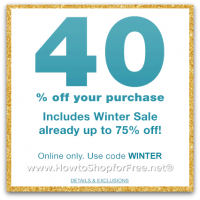 Save 40% off at GAP, Includes Winter Sale (thru 1/13)