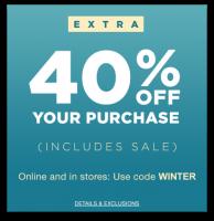 Save 40% at GAP until Midnight! (Jan 8)