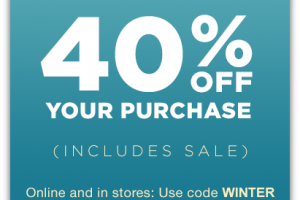 Save 40% at GAP until Midnight! (Jan 8)