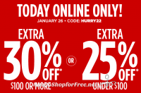 Today, Online Only ~ Up to 30% OFF at JCP.com!