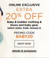 20% off Baby & Toddler Gear from Kohl's! (thru 1/8)
