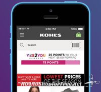 Possible FREE $10 with Kohl's Yes2You Rewards App!