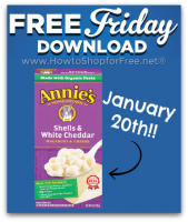 1/20: Free Friday Download for Kroger & Affiliates ~ Annie's Mac!