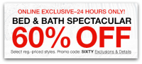 60% OFF Macy's Bed & Bath Spectacular, Today Online Only!