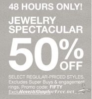 48 HOURS ONLY ~ 50% off Select Jewelry from Macy's!!!