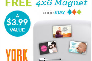 Custom FREE 4×6 Photo Magnet from York Photo!