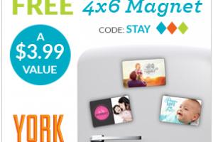 Custom FREE 4×6 Photo Magnet from York Photo!