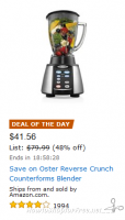 48% OFF Oster Reverse Crush Blender—Deal of the Day