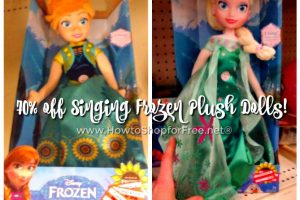 Frozen Singing Plush Dolls $6.88