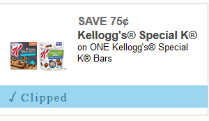 $0.75 off one Kellogg's Special K Bars ~ Print Now, Hot Doubler!