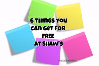6  FREEBIES from Shaw's