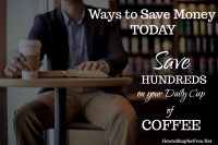 Save Hundreds on your Daily Cup of Coffee
