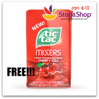 FREE Tic Tac Mixers @ Stop & Shop (Jan 6-12)