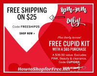 VS Shoppers, Free Ship on $25, 8pm-3am EST ~ Tonight Only!