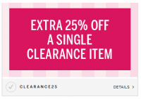 Extra 25% off VS Clearance Item *HOT Coupon Code*