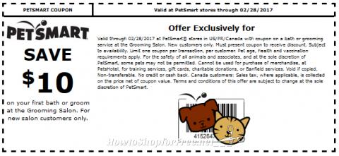 Petsmart discount coupons printable