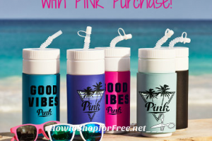 Free VS Water Bottle & Bottle Opener Sunglasses!