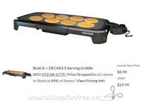 Black & Decker Griddle UNDER $9? WOW, I Just Paid $20 for Mine!