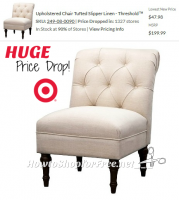Threshold Upholstered Tufted Chair 76% OFF… RUN!!!
