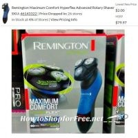 Remington Max Comfort Shaver PRICE DROP @ Some Walmarts!