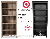 Bookcase Clearance at Target (ymmv) Time to Get Organized!