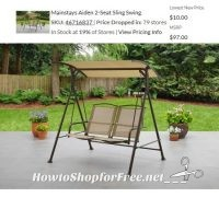 $10 Mainstays 2-Seat Sling Swing.. Clearance in 79 Stores!