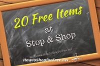 20 LAST Minute & NEW FREE Items at Stop & Shop