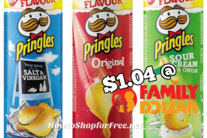 Pringles are $1.04 at Family Dollar ~ YUM! (2/28-3/6)