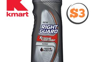 $3 Right Guard Body Wash at Kmart (3/12-18)