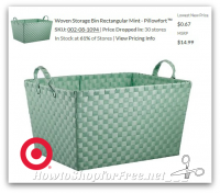 67¢ Woven Storage Bin (Mint) ~ Clearance Price Drop!