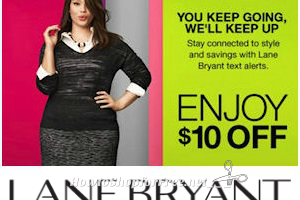 The $10 OFF $10 Lane Bryant Coupon IS BACK!! (thru 2/28) *Text Offer
