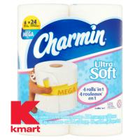 Charmin 6 Mega Rolls, $4.50 @ Kmart this week! (2/12-18)