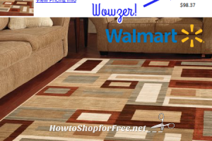 Stylish Area Rug for $1.00 ~ WOW, Check Your Store!