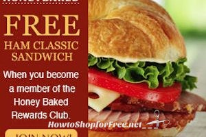 2 Free Sandwiches with Honey Baked Rewards!