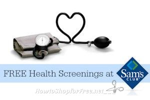 3/11: FREE Health Screenings at Sam's Club (up to $150 Value)