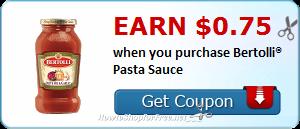 Earn $0.75 wyb Bertolli® Pasta Sauce @ Walmart!