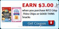 $3 Cash Back wyb Ritz Chips & Good Things ~ New on Ibotta!